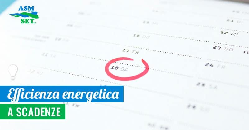 Il calendario dell'efficienza energetica domestica